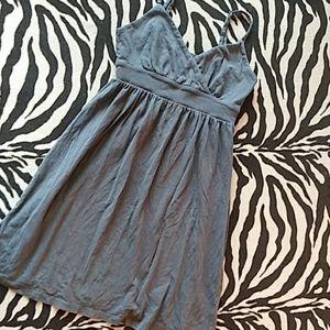 Grey Spaghetti Strap Dress